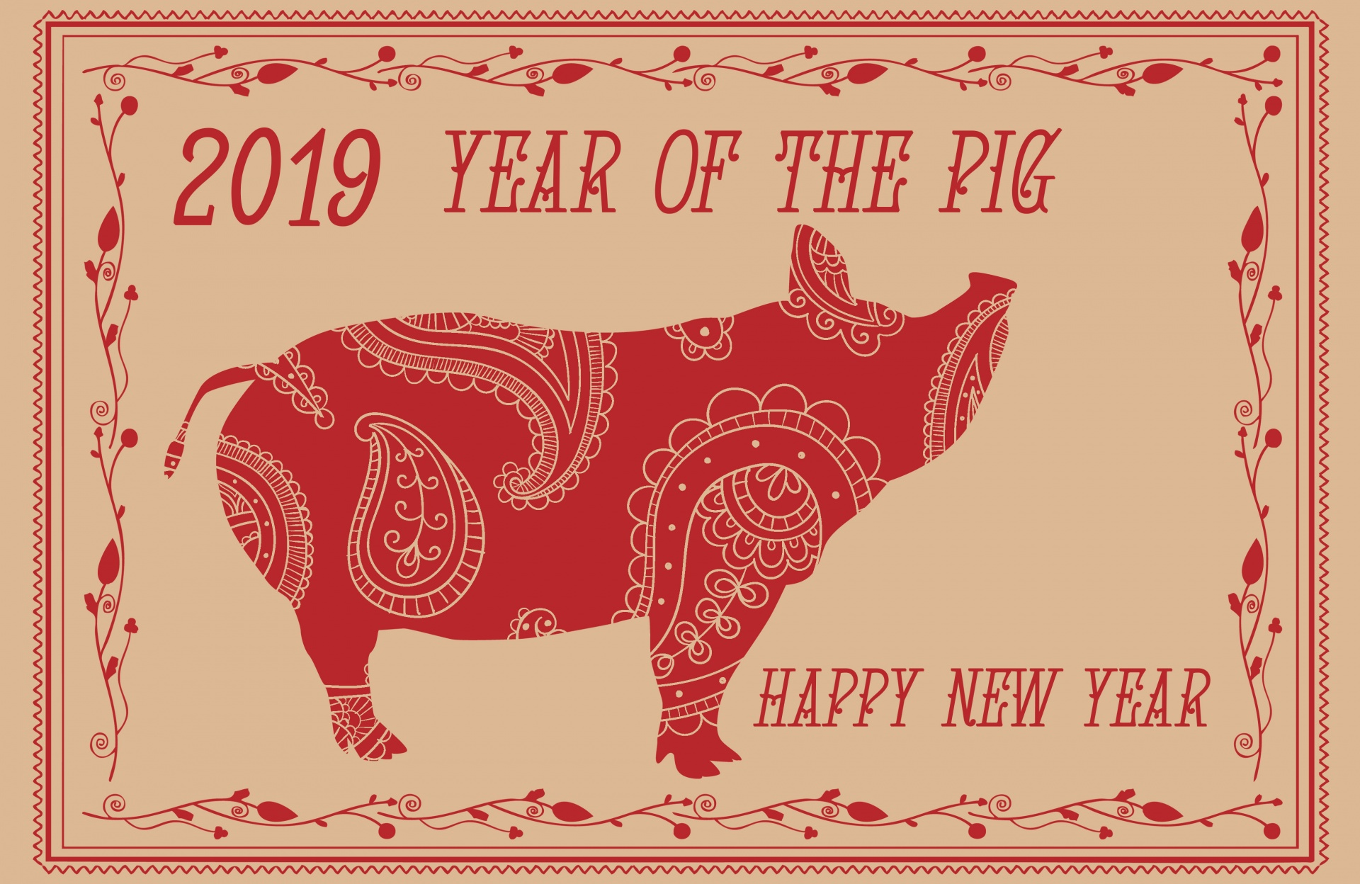 2019 – The Year Of The Earth Pig